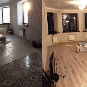 уборка комнаты коттеджа после ремонта