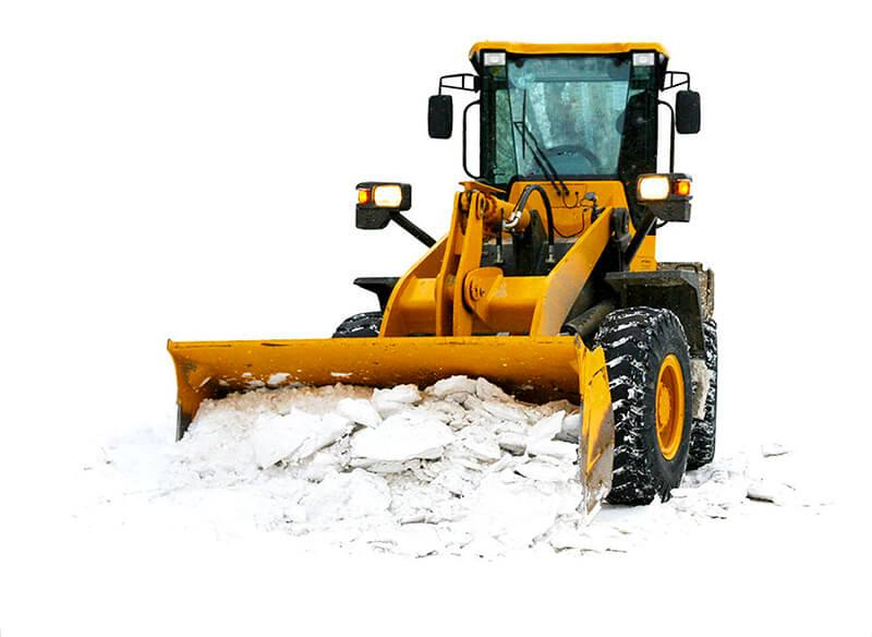 чистка территории от снега трактором
