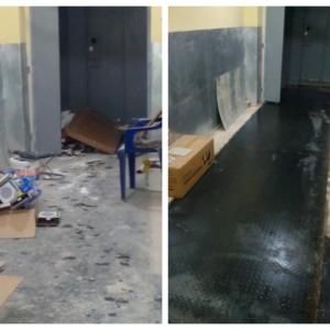 Уборка помещения до и после ремонта