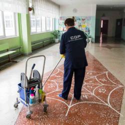 мытье полов в помещении